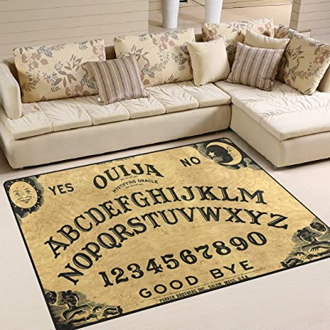 Ouija Board Area Rug 5x 7, Educational Polyester Area Rug Mat for Living Dining Dorm Room Bedroom Home Decorative