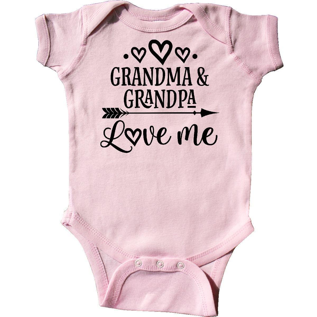 inktastic - Grandma Grandpa Love Me Arrow Infant Creeper Newborn Pink 2dfa0