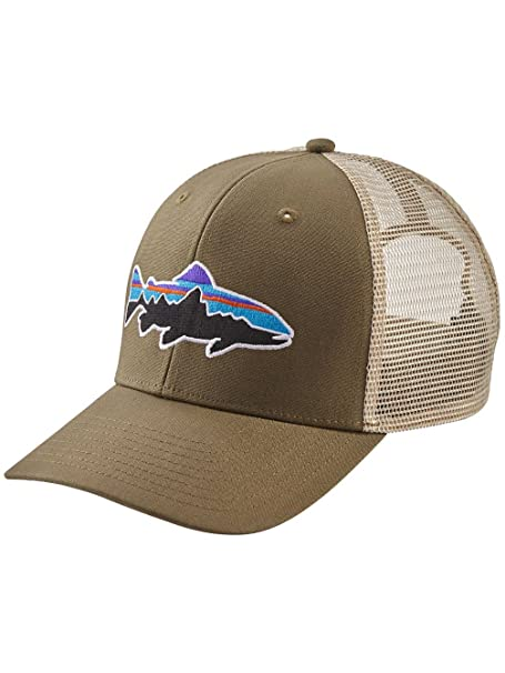 Amazon.com  Patagonia Fit z Roy Trout Trucker Hat e84b4579cbf0