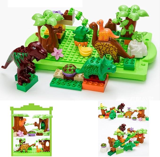 Set of 40 Dinosaur Jurassic Building Block Educational Toy for Children Fun UK