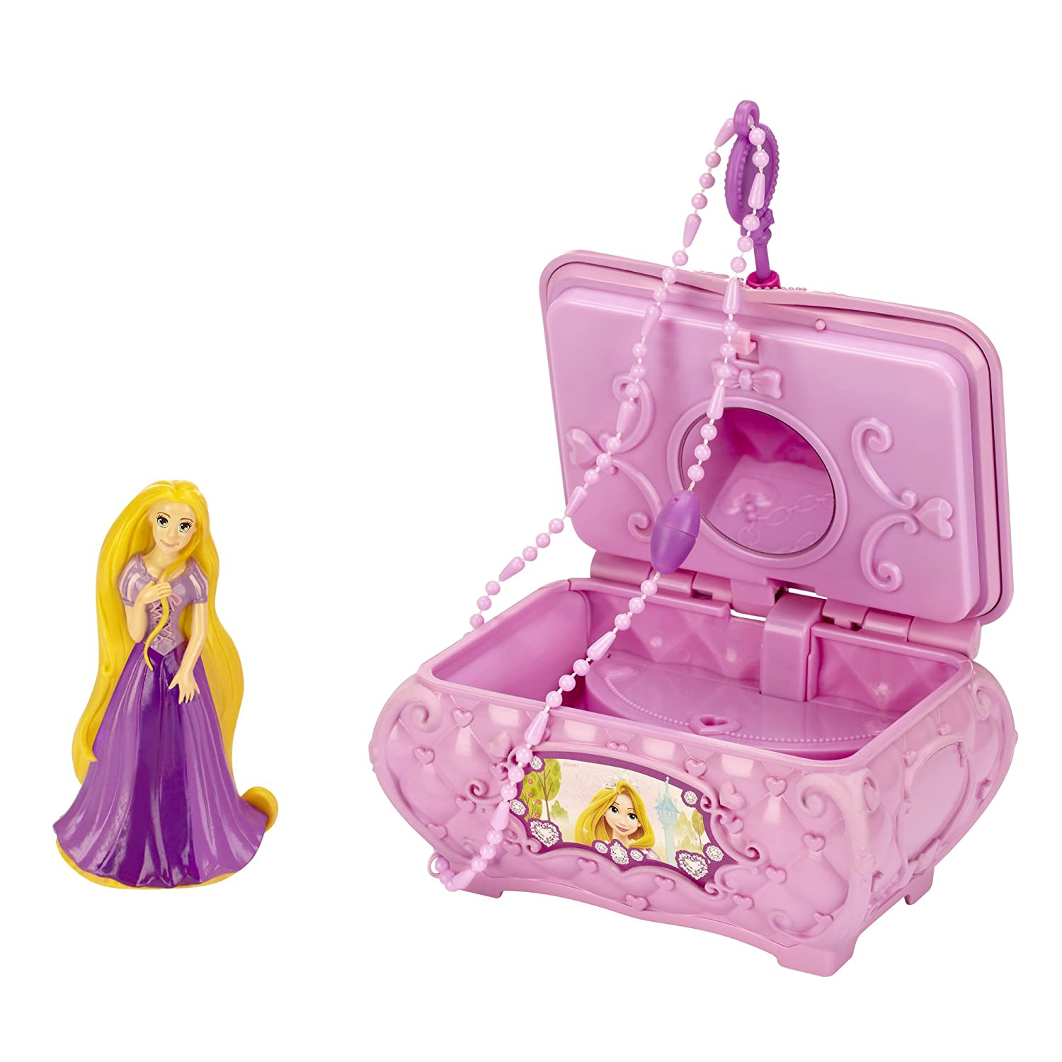 Amazoncom Disney Princess Rapunzels Musical Jewelry Box Toys Games