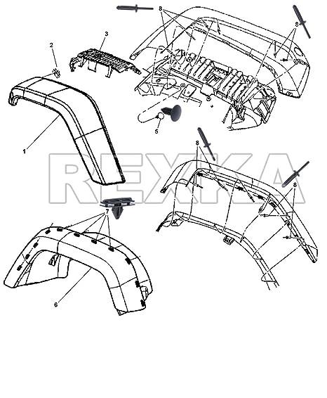 Amazon Com Rexka 50pcs Fender Flare Plastic Rivet 14 Hole For