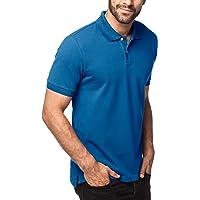 Lapasa Polo Homme en Coton Premium Cousu en Piqué Uni Manches Courtes Coupe Classic Fit Indémodable Intemporel Tennis Golf M19