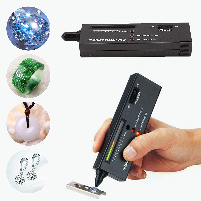 rwu0 Professional Diamond Selector II,Digital Accuracy Diamond Tester with LED Precision Indicator Gem Tester Pen Portable Electronic Diamond Tester Tool