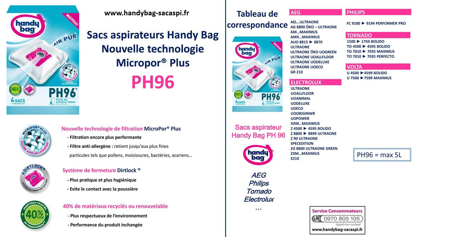 Amazon.com: Handy bag PH96 Philips, AEG, Electrolux, Tornado ...
