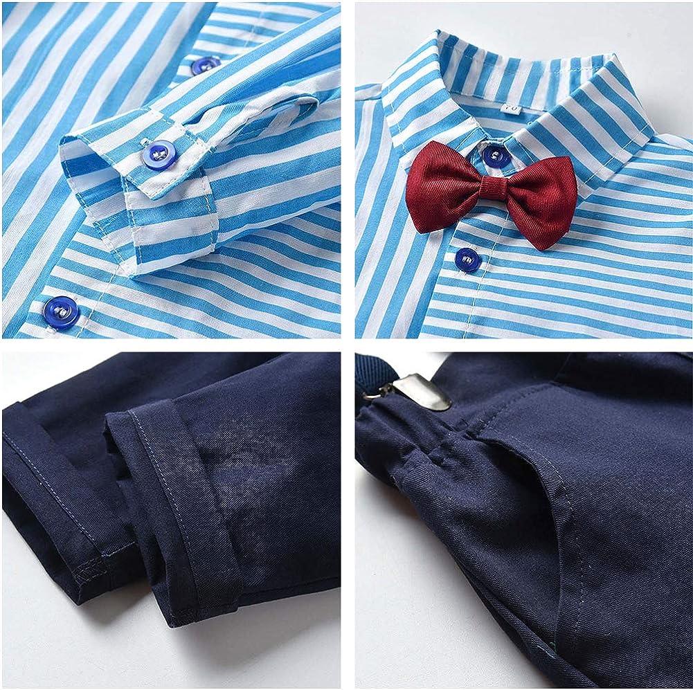 ZOEREA Conjunto de Ropa Bebé Niño Gentleman Camisa Rayadas de ...