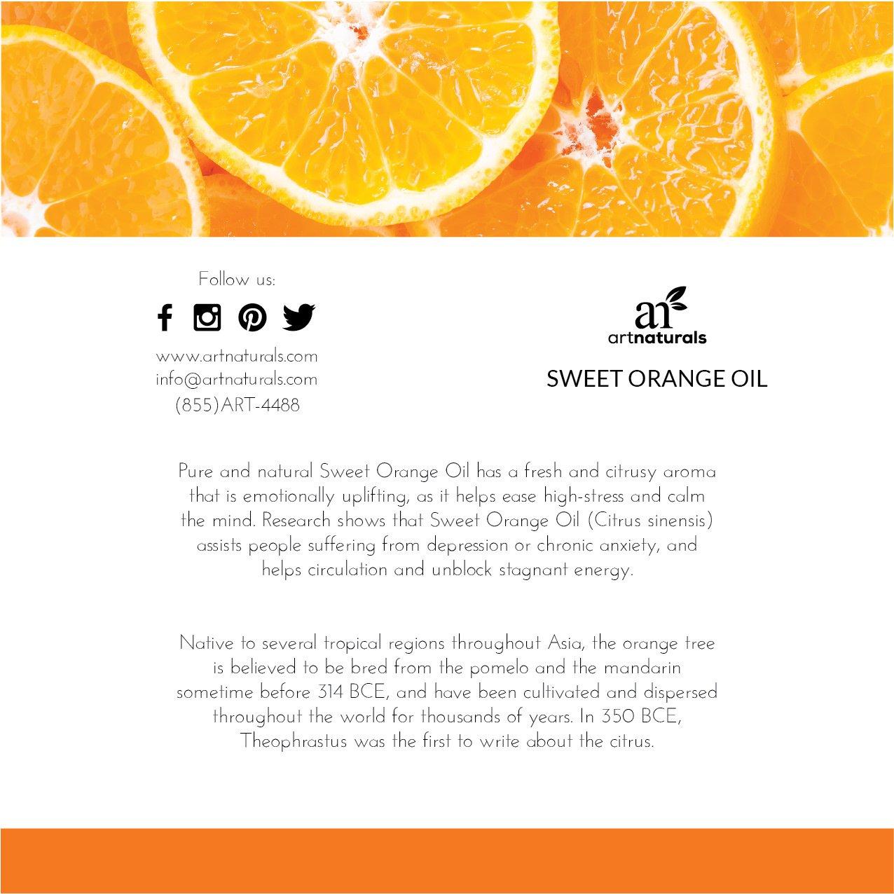 Amazon Artnaturals 100 Pure Sweet Orange Essential Oil 10