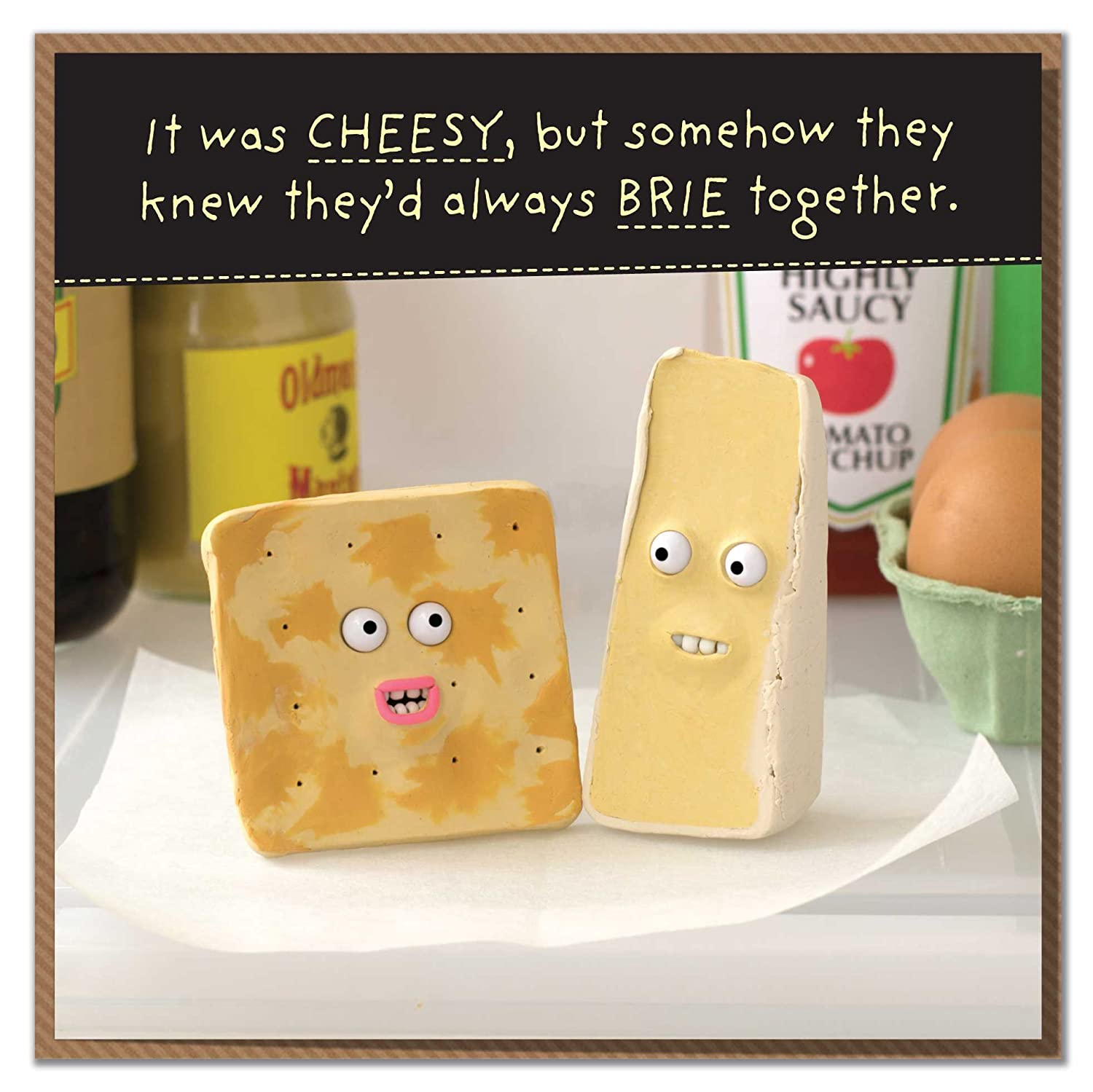 Theyd Always Brie Together Cheesy Anniversary or Valentines Day Card