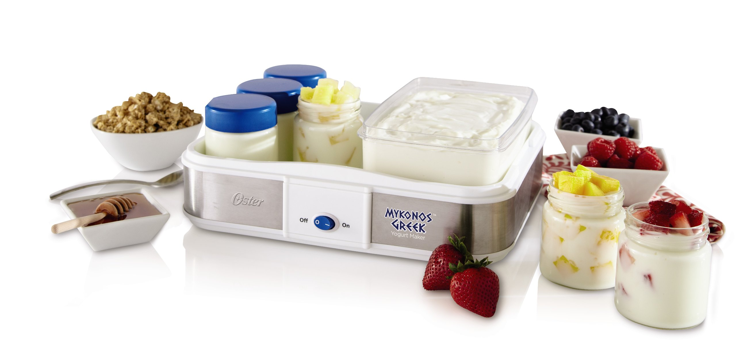 Oster CKSTYM1010 Mykonos Greek Manual Yogurt Maker, 2-Quart by Oster