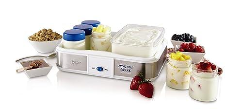 amazon com oster ckstym1010 mykonos greek manual yogurt maker 2 rh amazon com Yogurt Starter Greek Yogurt Maker