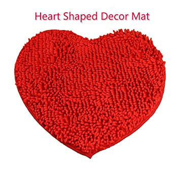 bathroom rugs heart shaped decor red area rug kitchen pet microfiber door amazon 5x7 clearance