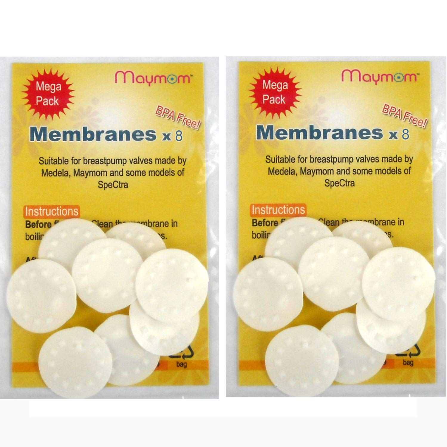 Lactina Swing and Symphony Pumps Maymom Replacement Membranes for Medela Medela Pump in Style Breastpump 8-Pack by Maymom