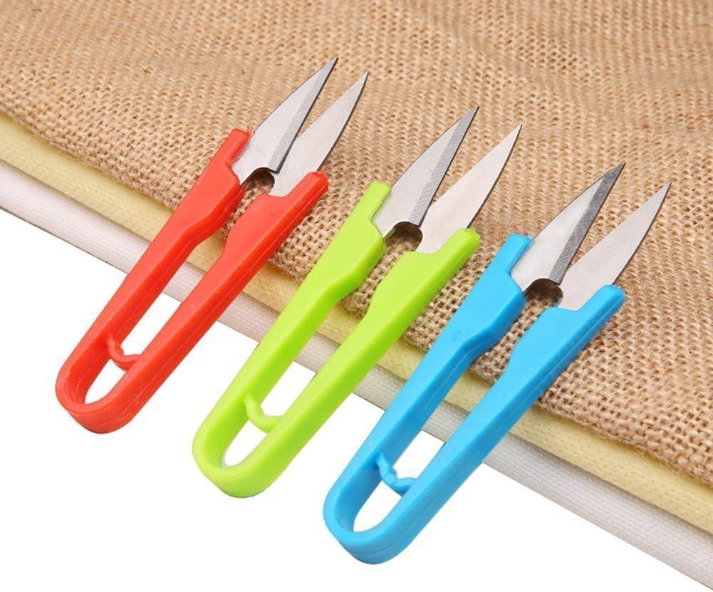 Tijeras de hojalatero para descoser color al azar 2pcs en forma de U Grip hilo Clip Tailor hilo de la primavera tijeras Stitch cortador Handy Tools