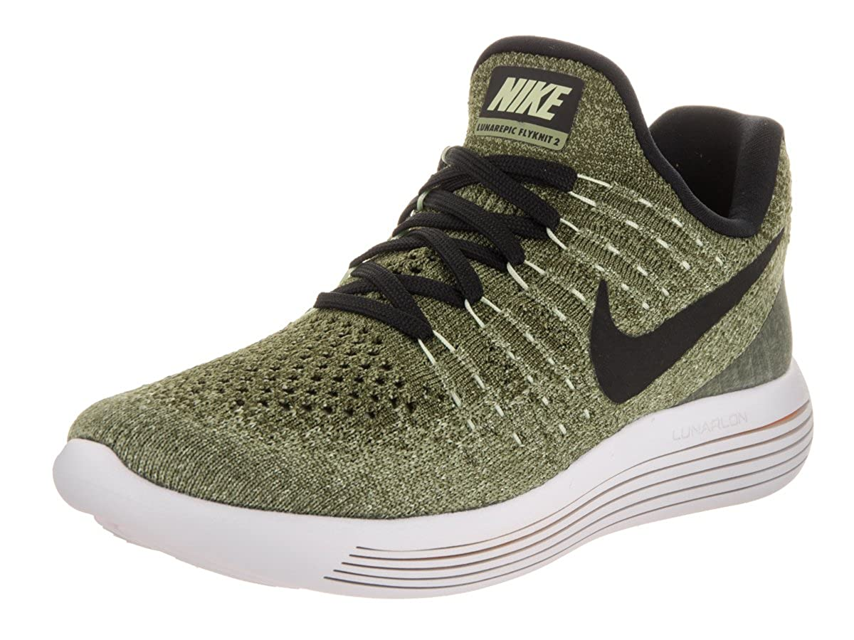 roto A bordo Dificil  Buy Nike Women's Lunarepic Low Flyknit 2 Palm Green/Black/Vapor Green  Running Shoe 7.5 Women US at Amazon.in