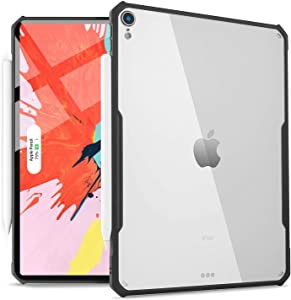 HBorna 3rd Generation iPad Pro 12.9-inch (2018 Release) Case, Ultra-Slim Clear Cover, Supports Apple Pencil Wireless Charging Flexible TPU Lightweight Case for iPad Pro 12.9 2018