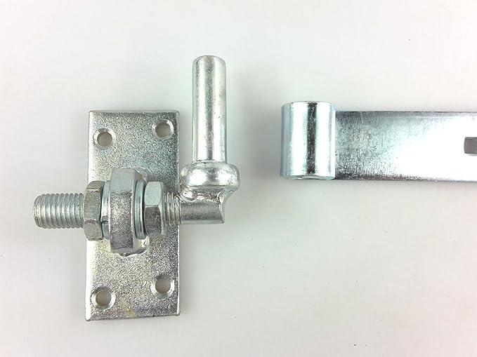 Ladenband Tür Scharnier Torband B-WARE Torbeschlag M 16 verstellbar L 670 Schw