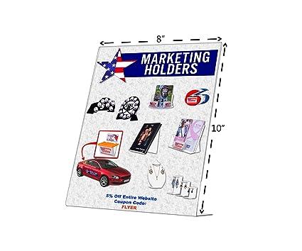 Amazon.com: Marketing Holders (3 Pack) 8 X 10 Slant Back Clear ...