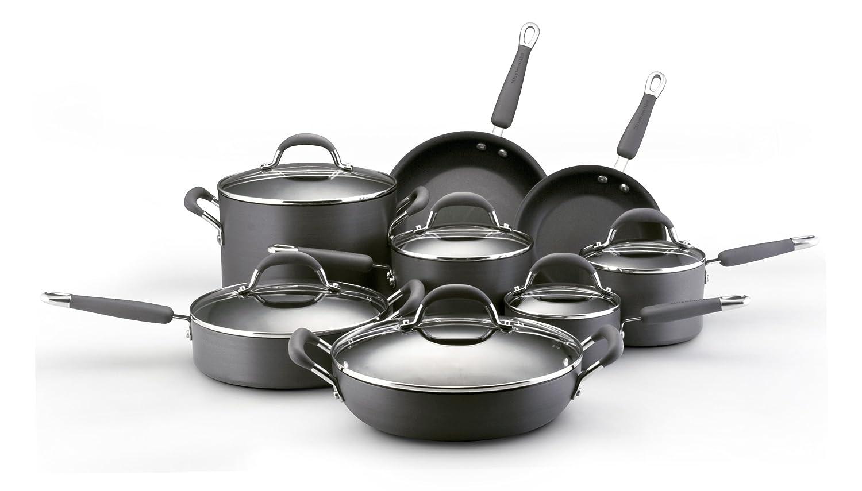 KitchenAid Gourmet Essentials Hard Anodized Nonstick 14-Piece Cookware Set