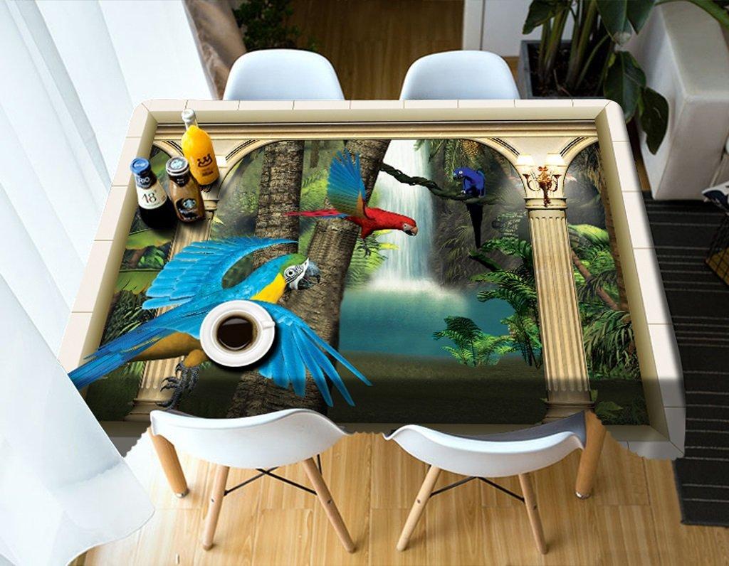 Ropa de Cocina Manteles rectangulares - 3D Landscape Series Tablecloth MT1 - Respetuoso con el Medio Ambiente y sin Sabor - Impreso digitalmente a Prueba de Agua (Tamaño : Square -216cmx216cm)