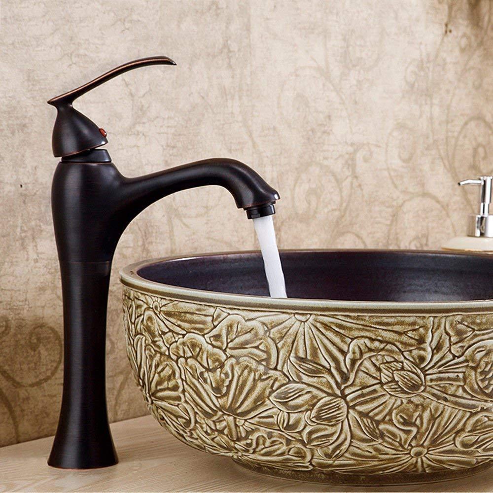 JingJingnet シンクミキサータップ浴室の台所の洗面器水道の蛇口保存用水の蛇口アンティークカラーのキッチンホット&コールドWaterntiqueシングルハンドル盆地盆地 (Color : A) B07RXYSS62 A