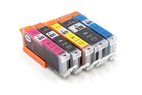 vhbw Set de Cartuchos de Tinta para Impresora Canon Pixma TS5050 ...