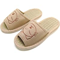 KNP HOUSE SLIPPERS Womens KNP26016T Cat House Slippers Bamboo Insole Wide Upper Open Toe #Knp26016t