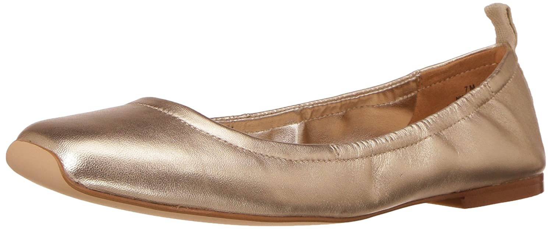 Nine West Women's Zdeno Metallic Ballet Flat B06WW2THPT 5.5 B(M) US|Light Gold