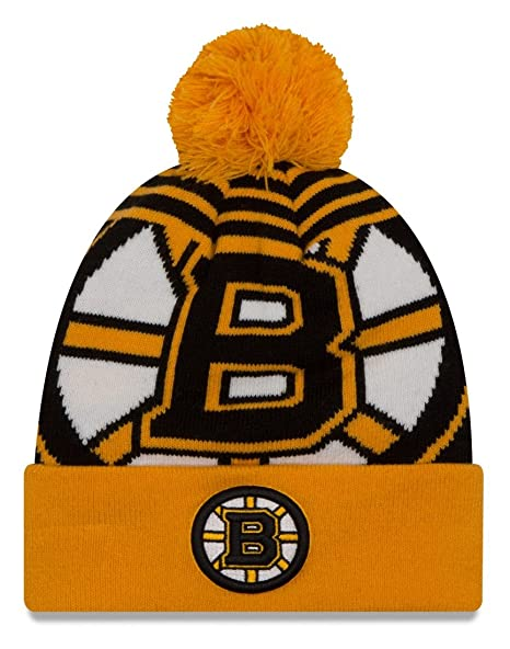 huge discount 9a8b4 ff150 Image Unavailable. Image not available for. Color  Boston Bruins New Era NHL   quot Logo Whiz 2 quot  Cuffed Knit Hat ...