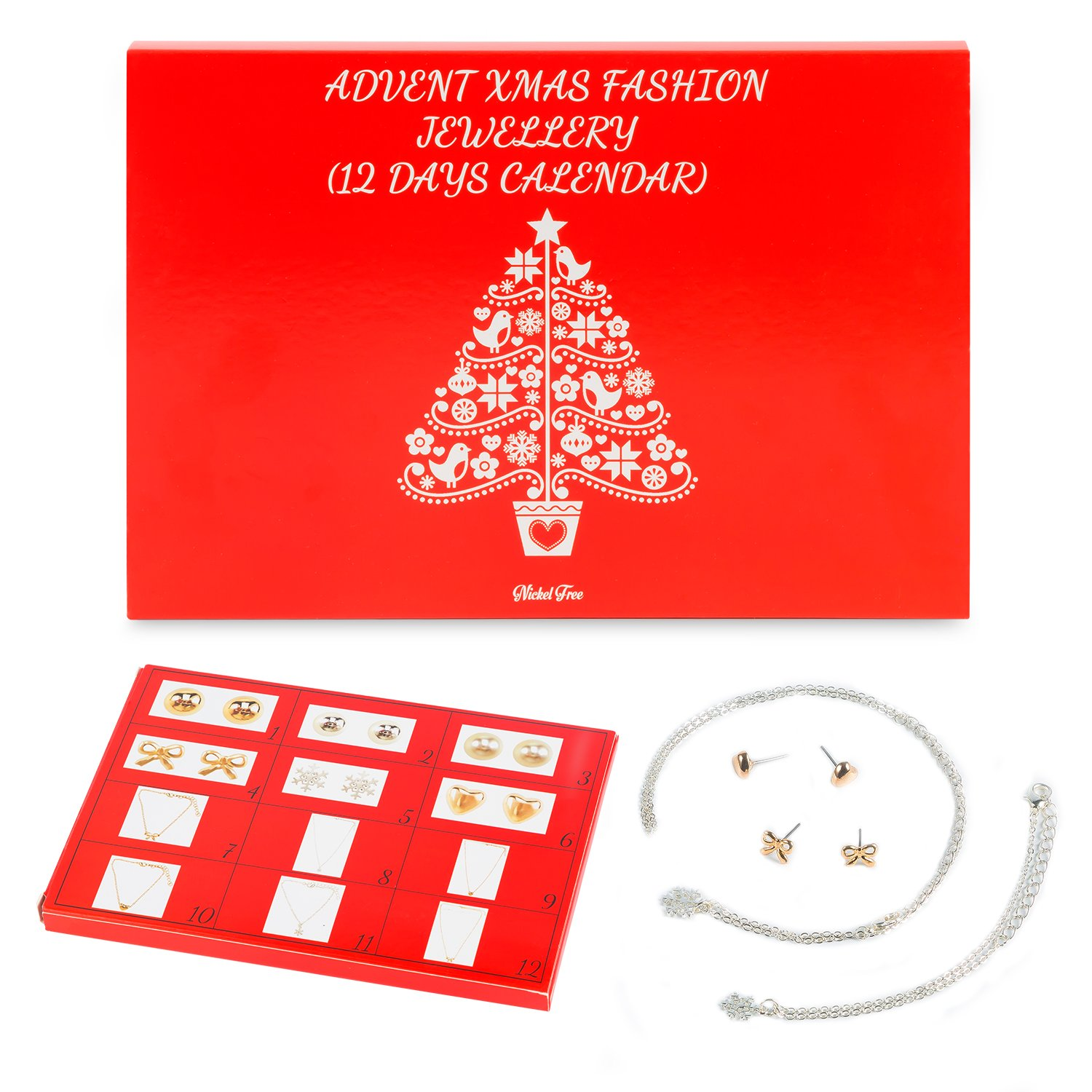 12 Day Advent Calendar for Christmas with Fashion Jewellery