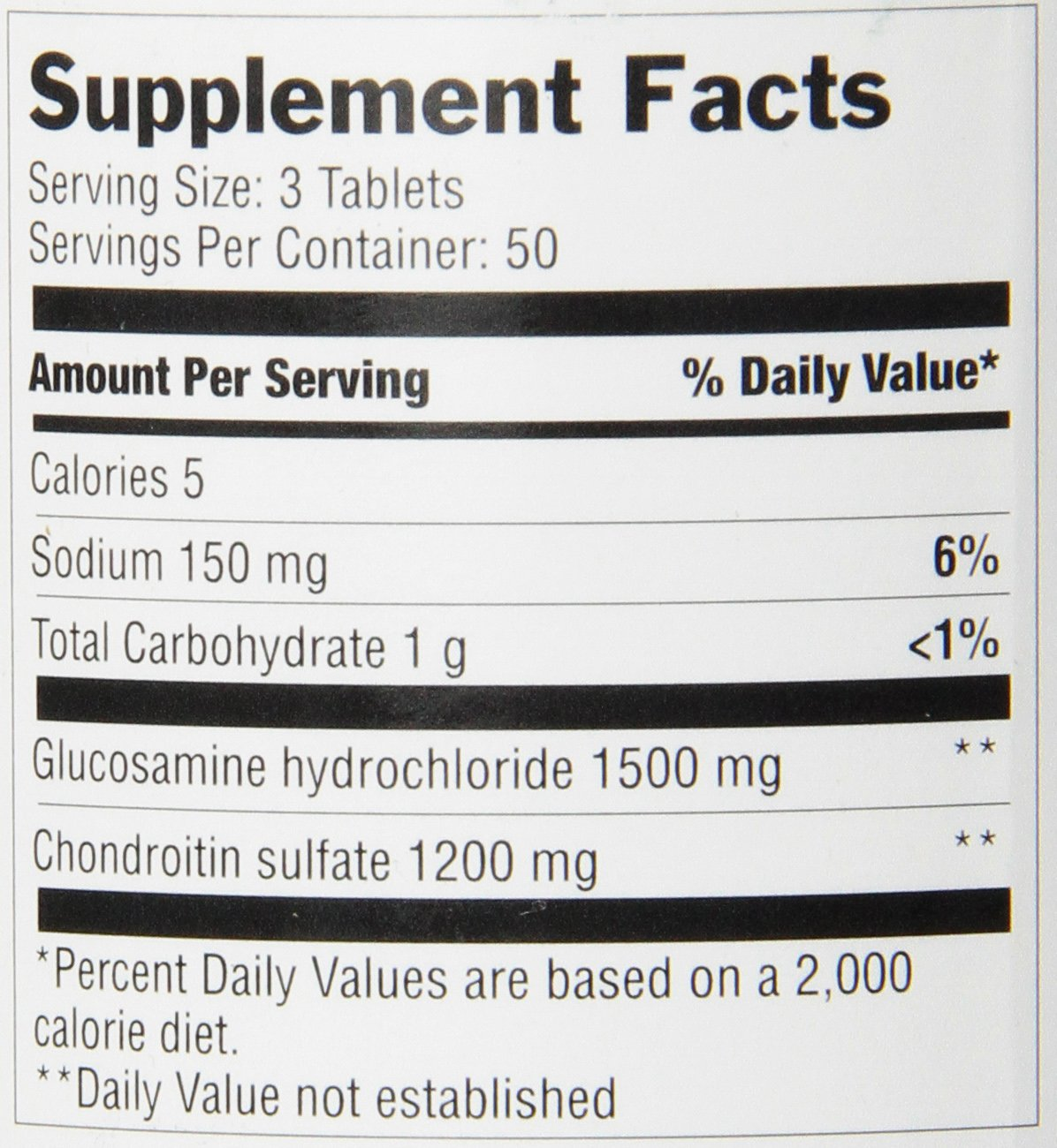 Amazon.com: Optimum Glucosamine and Chondroitin Tablets, 150 Count: Health & Personal Care