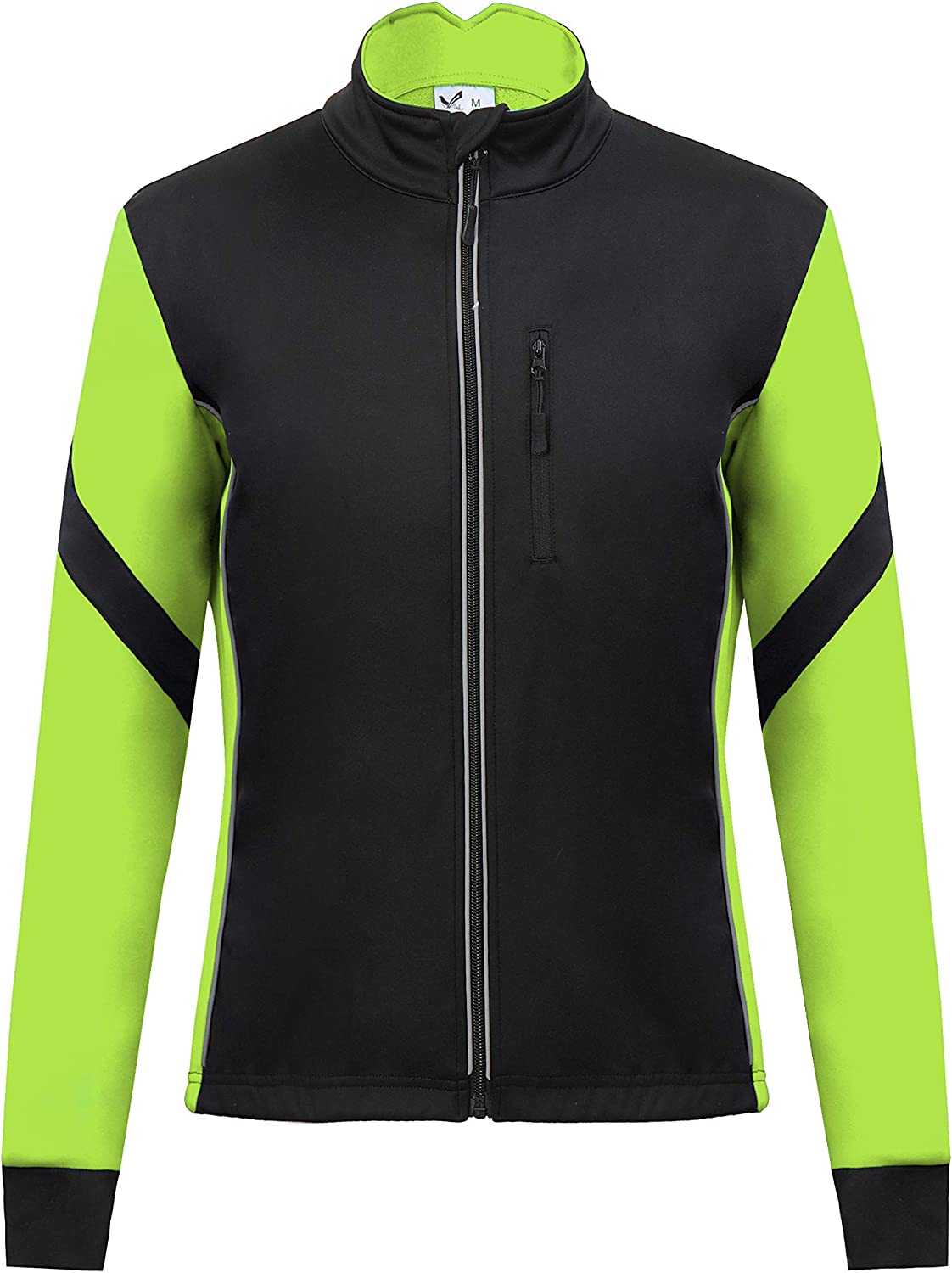 Thermal Cycling Jersey Long Sleeve Snow Water Reflective Windproof Firewall Winter Biking Jacket: Clothing