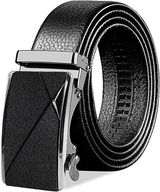 BTNEEU Cinturón para Hombre de Cuero Cinturón Piel Hebilla Automática Hombre 28522deabe39