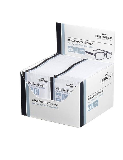 e58b9944af3984 Durable 585302 Lingette Spéciale pour Nettoyer les Verres de Lunettes et  Optiques Appareils Photo en Sachet