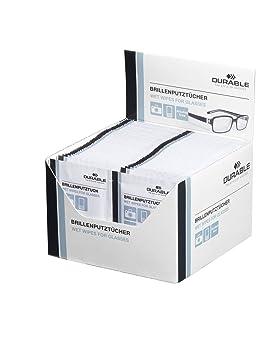 Durable 585302 - Paquete de 100 pañuelos de limpieza para gafas: Amazon.es: Oficina y papelería