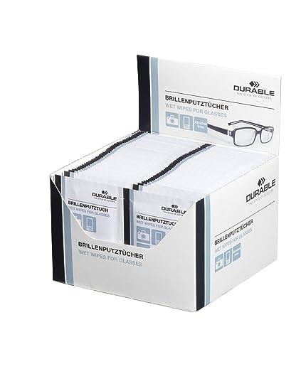 Durable 585302 - Paquete de 100 pañuelos de limpieza para gafas