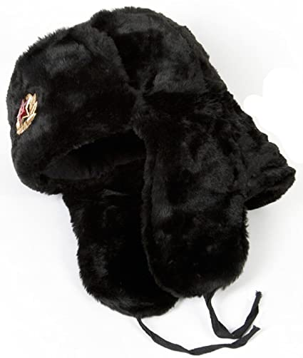Buy Russian Military Style Winter Hat USHANKA size 60 (L) BLACK Online at  Low Prices in India - Amazon.in 5b296c22e75