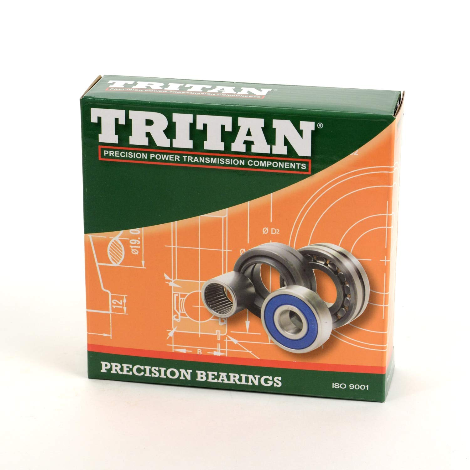 Tritan 3808 2RS Double Row Ball Bearing with 2 Rubber Seals 40 x 52 x 10mm