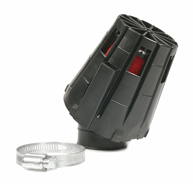 L 115mm Rennluftfilter MALOSSI E5 Innenfilter: rot Anschluss: 38mm chrom 30/° f/ür PHBL 20-25