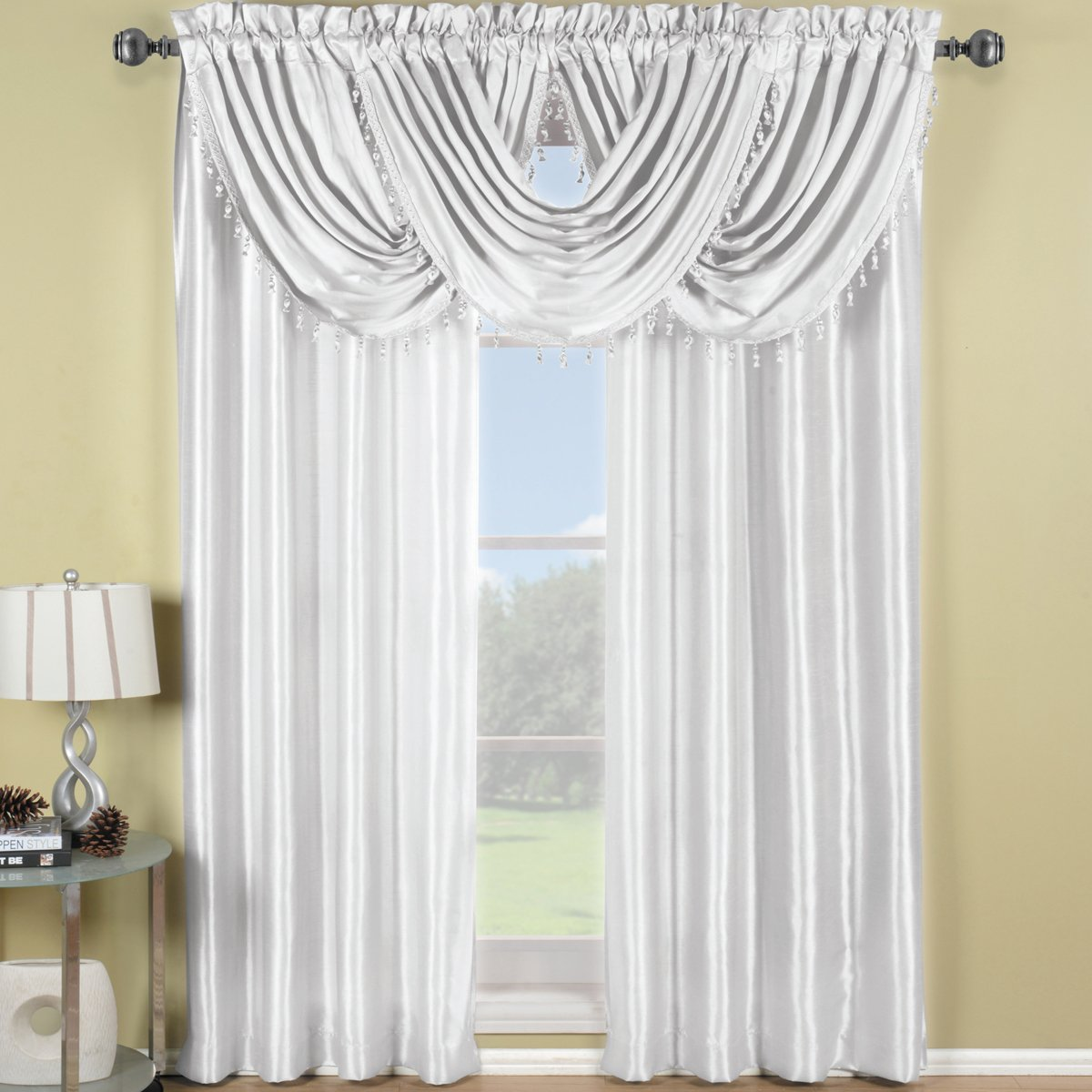 window waterfall p valances treatment valance scroll gold x bronze jacquard monarch