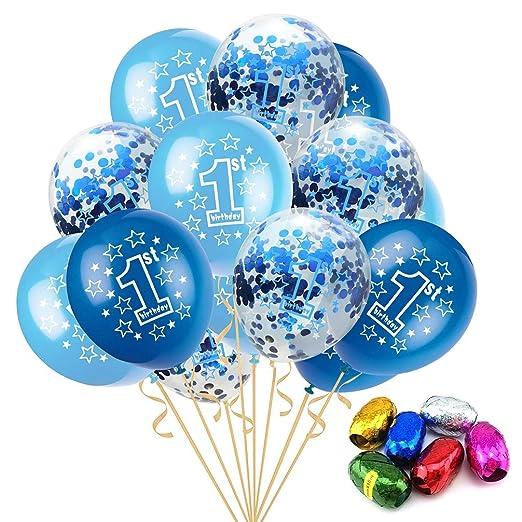 Xie5Qing Los Globos de látex, Rainbow 12 Pulgadas Confetti ...