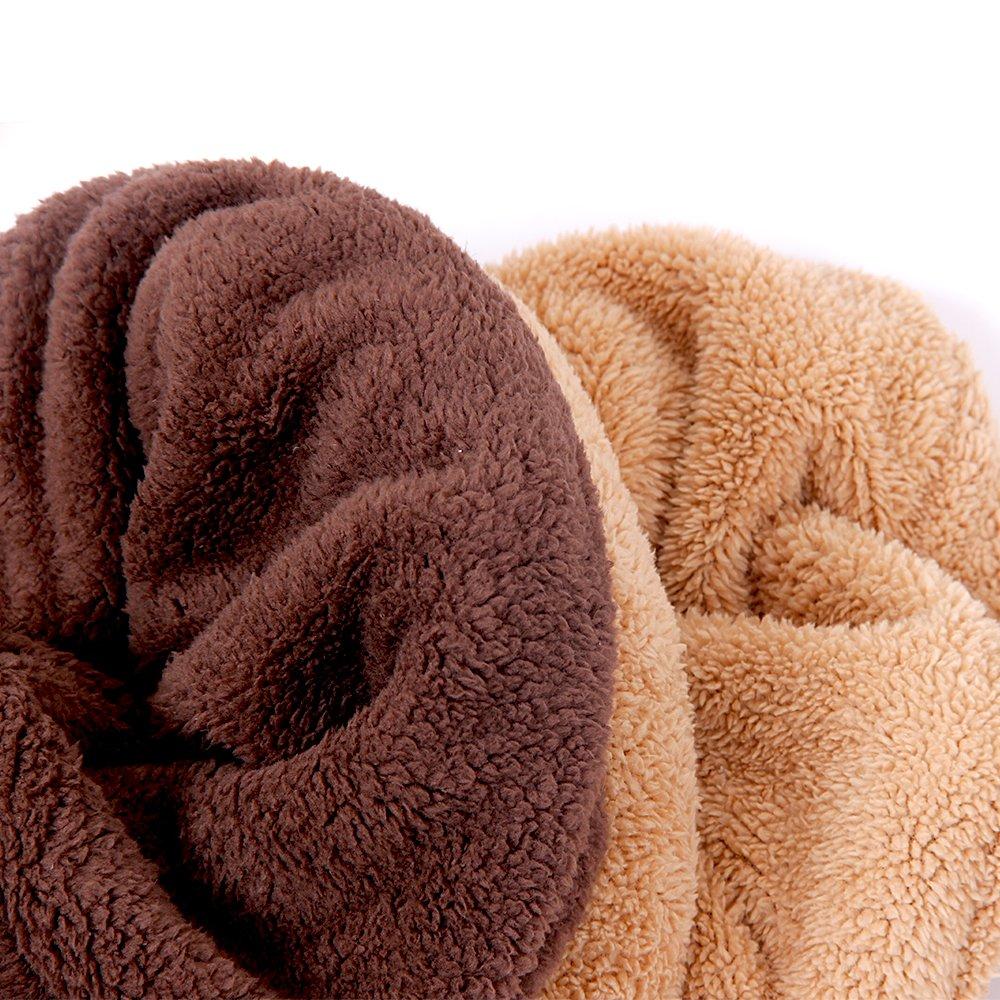 PAWZ Road Cat Sleeping Bag Fleece Soft Self Warming Camas Lavables para Gatos Snuggle Sack Matket Kitty Sack Adecuado para Gato y Cachorro Amarillo 60 ...