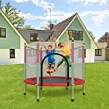 Laulry Kids Trampoline with Safety Enclosure Net - 5FT Trampoline for Kids Outdoor - Parent-Child Interactive Game Fitness Tr