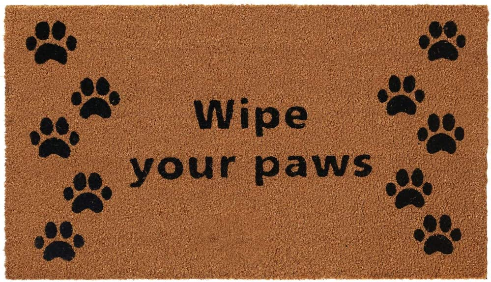 Gorilla Grip Premium Durable Coir Door Mat, 24x16, Thick Heavy Duty Coco Doormat for Indoor Outdoor, Easy Clean, Low Maintenance, Low-Profile Mats for Entry, Patio, High Traffic Areas, Wipe Yours Paws