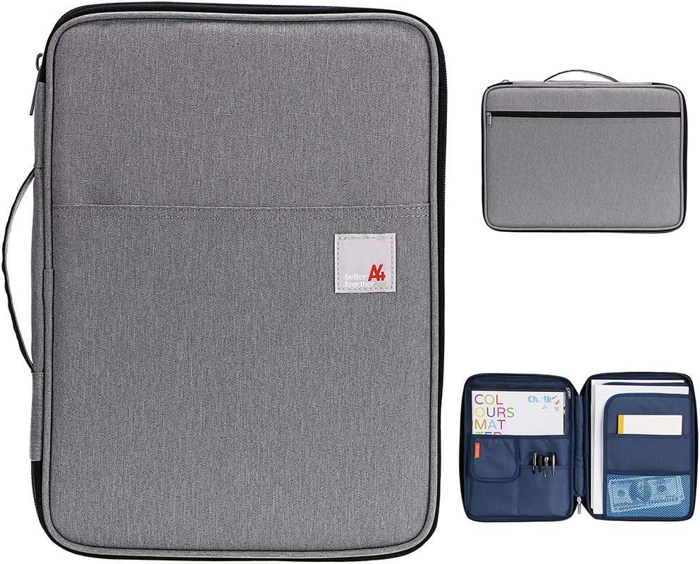 A4 Document Bag Zipped Conference Folder Case Files Portfolio Organiser Case BG