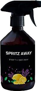 Laundry Freshener by Spritz Away I 8.45 Fl Oz I Fabric Deodorizer and Disinfectant I Use During Washing I Fresh Citrus and Lavender Fragrance I Bad Odour Eliminator for Stinky Wet Laundry
