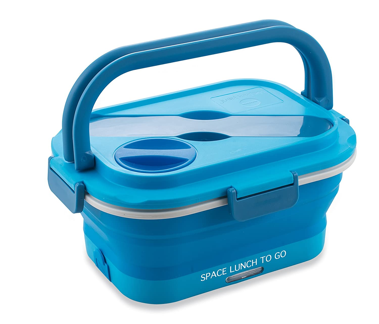 Macom Just Kitchen 864 Space Lunch to Go Hornillo eléctrico plegable Salvaspazio, 35 W, Azul/Blanco: Amazon.es: Hogar