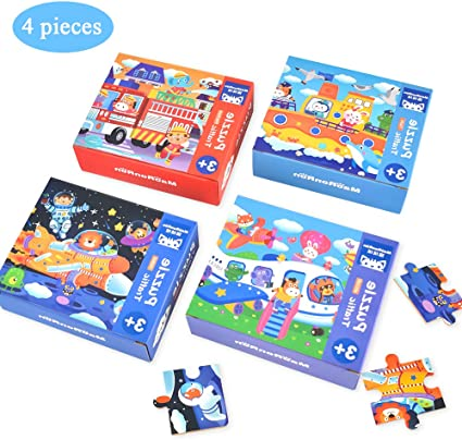 Puzzles for Kids Ages 4-8 Year Old 60 Piece Colorful Wooden Puzzles for Toddl...