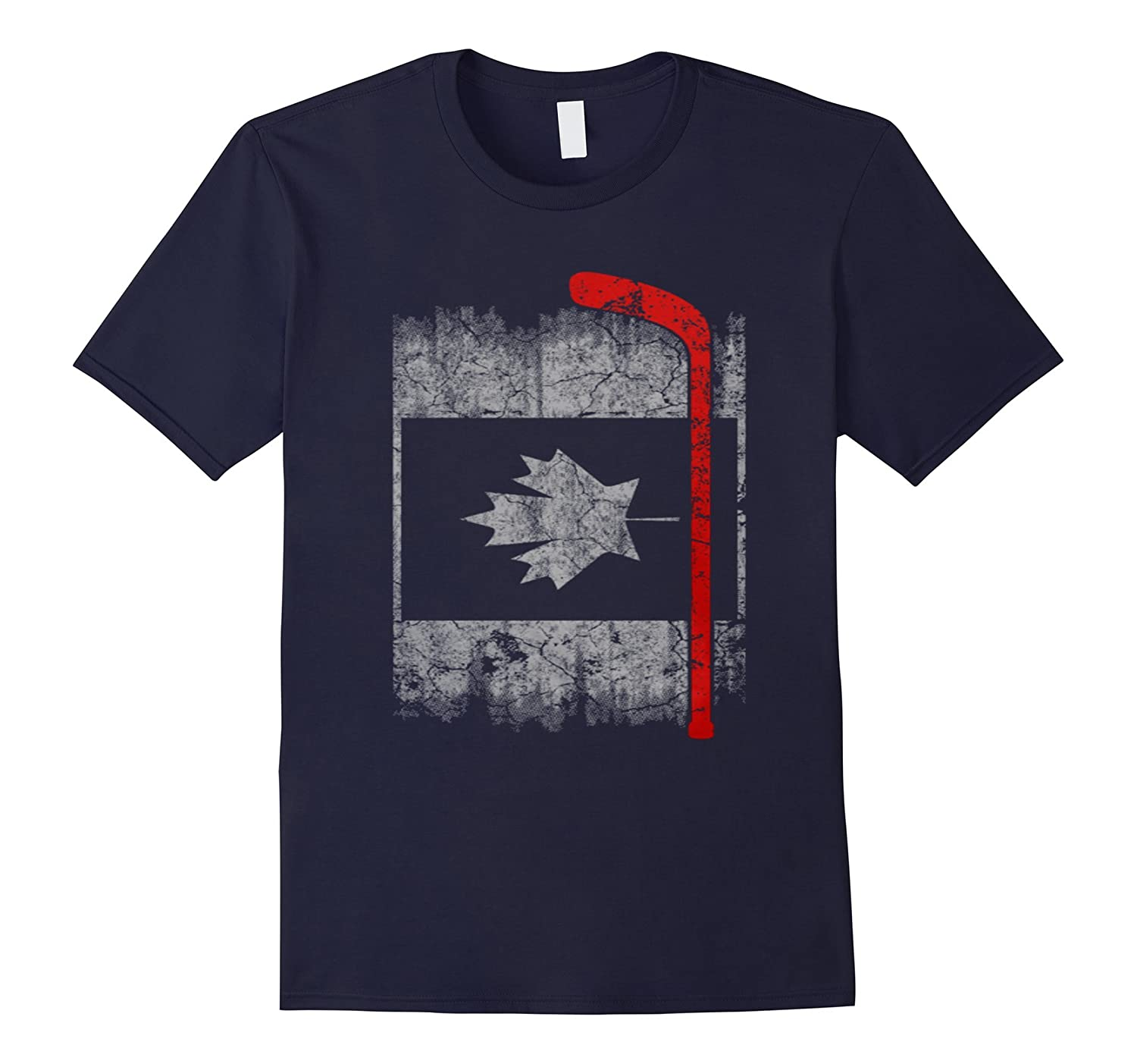 Thin Red Line Firefighter Canada hockey flag shirt-RT