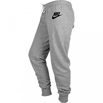 NIKE Rally Women's Trousers Tight-Fitting grey Carbon Heather/Cool Grey/Black  Size