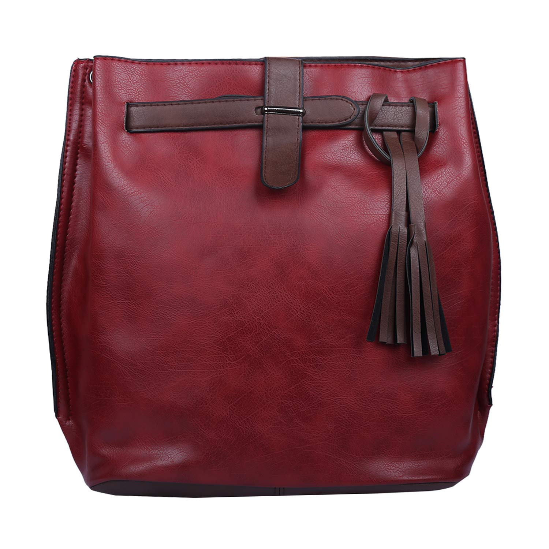 Anselmo Global Synthetic Red Women's Handbag